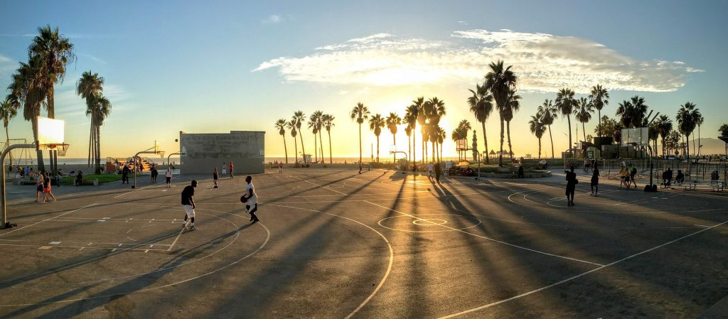 build an outdoor Basketball Court