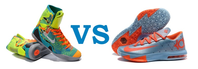low top vs high tops basketball shoes